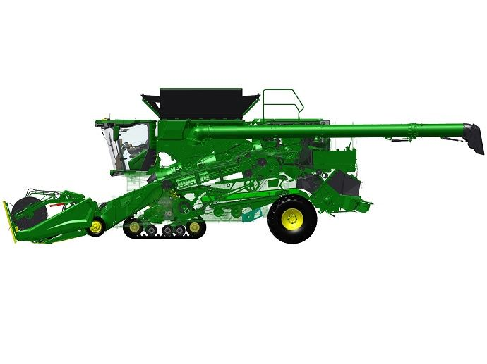 John Deere – Moissonneuse-batteuse à double rotor