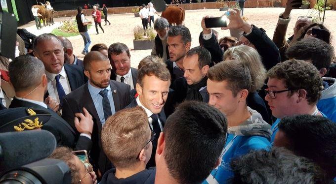 Emmanuel Macron au Sommet de l'élevage