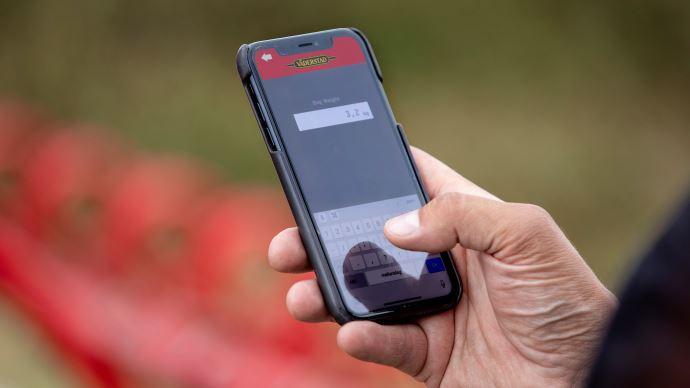 E-control mobile, permet de calibrer l'ensemble des semoirs Väderstad depuis son smartphone