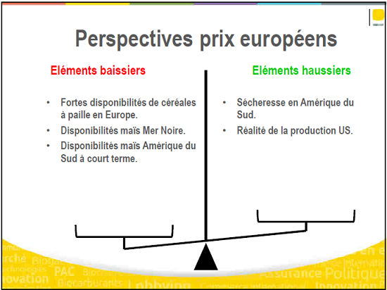 Perspectives des prix européens du maïs