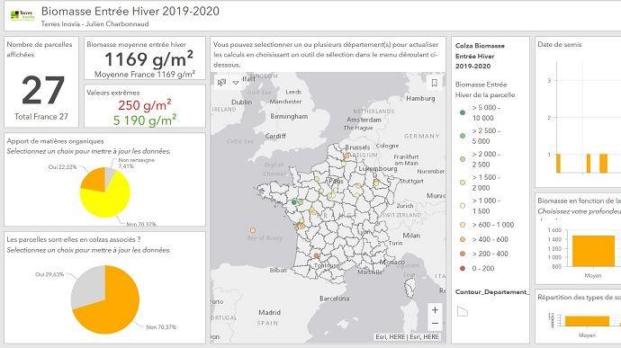 Biomasse entrée hiver colza 2019-2020