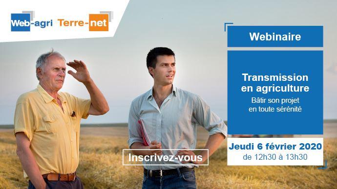 webinaire sur terre net web agri sur la transmission d exploitations agricoles