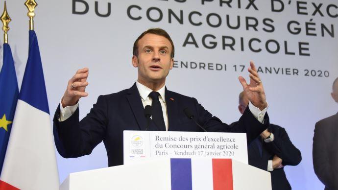 Le président de la République célébrant les mérites de l'agriculture française, à l'occasion des 150 ans du Concours général agricole