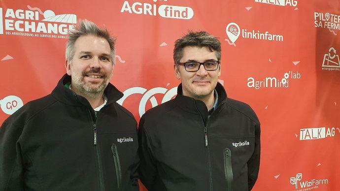 Cédric Guyot et Guillaume Belissent, fondateurs d'Agrikolis, lors du salon de l'agriculture 2020.