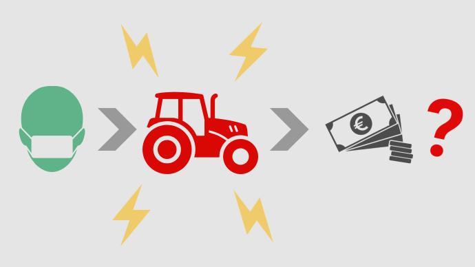La crise liée au Covid-19 touche aussi les exploitations agricoles, qui peuvent prétendre à plusieurs dispositifs de soutien