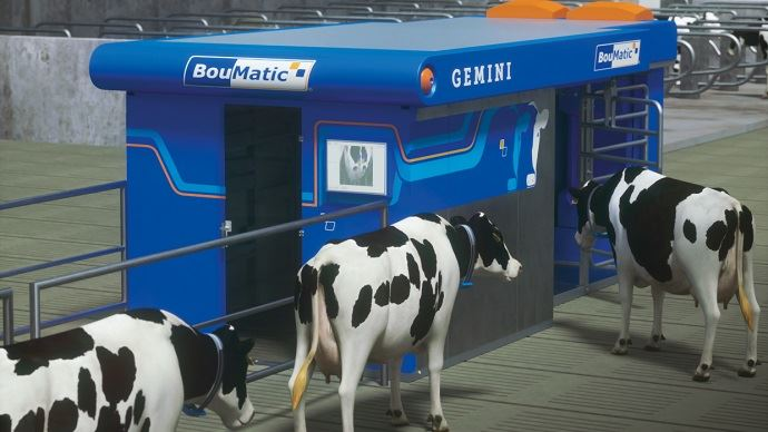 Robot de traite Gemini Boumatic