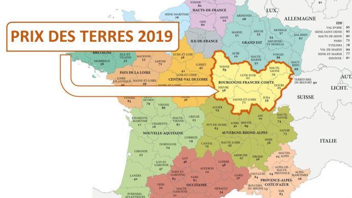 A 3000€/ha en moyenne, le prix des terres et prés libres en Bourgogne Franche Comté progresse de 2% en 2019