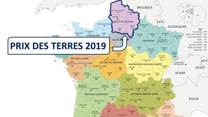 Dans les Hauts-de-France, l'hectare libre s'est vendu, en moyenne, à 9420€ en 2019