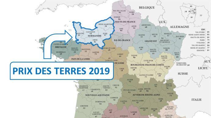 En 2019, l'hectare libre s'est négocié à 8190€ en moyenne en Normandie