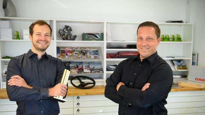 Alain Blind et Thomas Wagner, les designers de la Lexion de Claas
