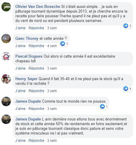 posts facebook paturage tournant dynamique et secheresse ete 2020