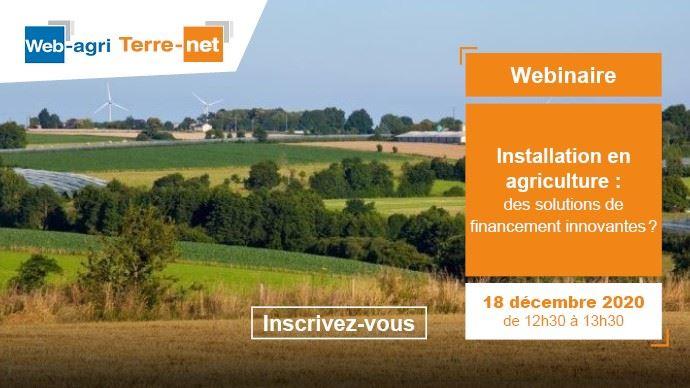 webinaire terre net financement installation en agriculture