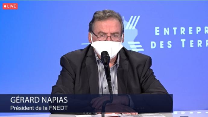 Gérard Napias, président de la FNEDT, a évoqué le 17 décembre la place croissante des entreprises de service auprès des exploitants agricoles.