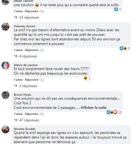 posts facebook alternative au glyphosate de la sncf
