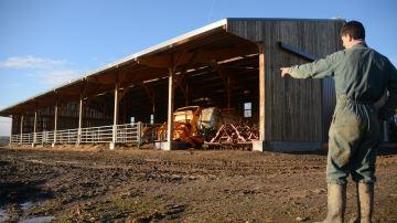 Jérémie Bioteau (49) a opté pour un bâtiment qui donne libre accès au pâturage