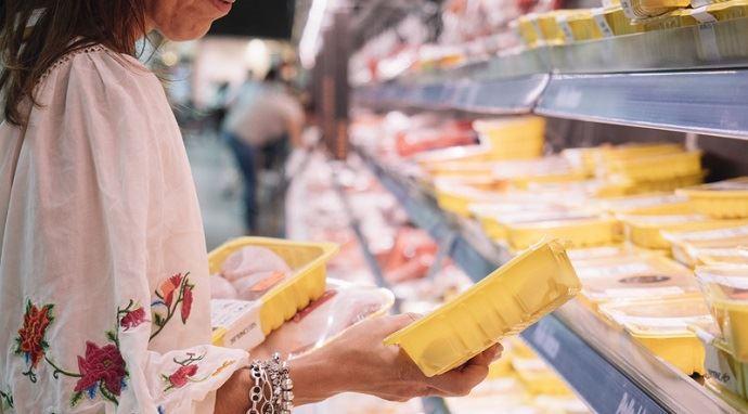 rayon viande de supermarché