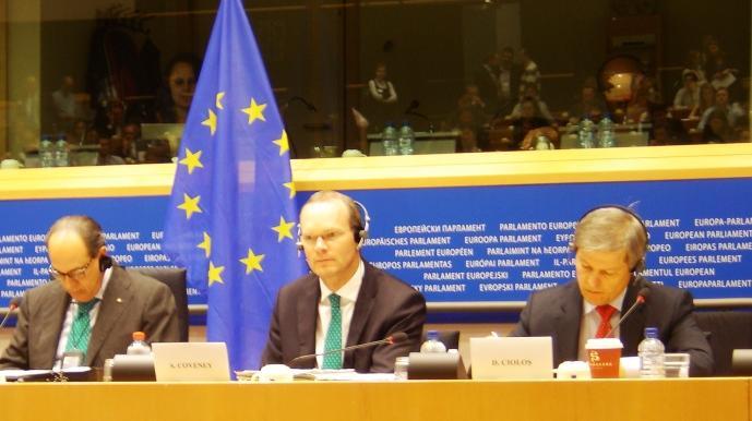 Simon Coveney, Dacian Ciolos et Paolo De Castro.