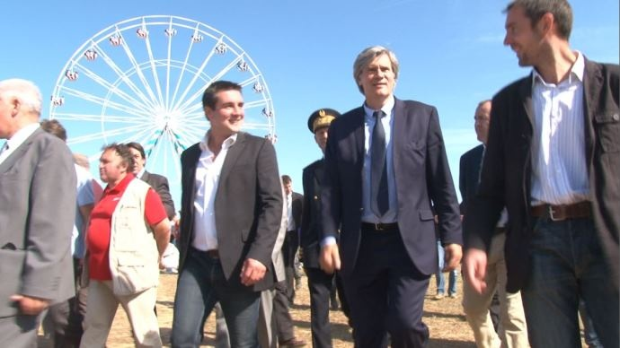 Stéphane Le Foll avec le président de JA François Thabuis
