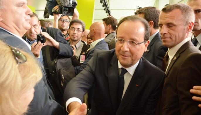 F. Hollande a visité un Sommet de l'élevage, du désarroi et de l'impatience