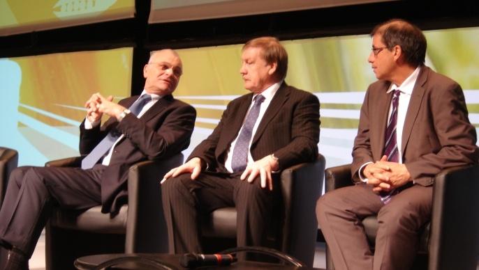 Au sommet du végétal en janvier 2013, les trois présidents de la l'Agpb (Philippe Pinta), de l'Agpm (Christophe Terrain) et de la Fop.