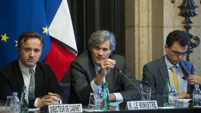 Au Conseil supérieur d'orientation avec Stéphane Le Foll, ministre d'Agriculture et son directeur de cabinet.