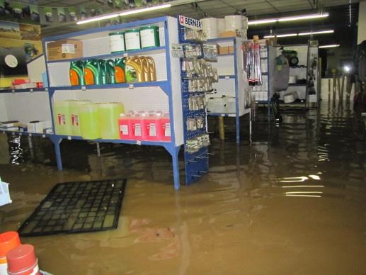 inondation dans une concession agricole en Bretagne