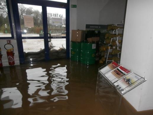 Inondation d'une concession agricole en Bretagne
