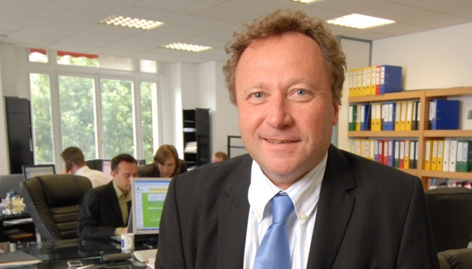 Michel Portier, directeur général d'Agritel au siège à Paris.