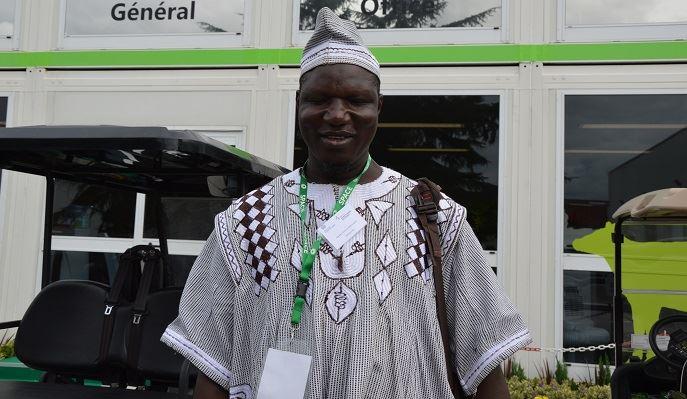 Un éleveur du Burkina Faso en visite au Space 2017